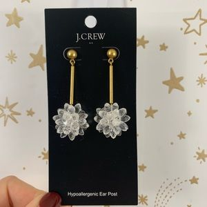 J. Crew | Crystal Flower Retro Drop Earring NWT